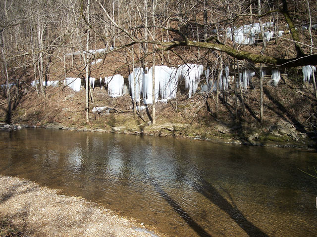 Ice Falls on the Blackburn Fork River